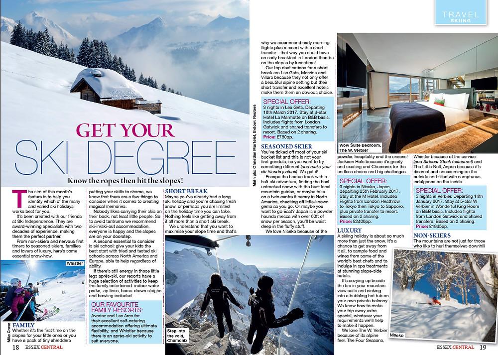 Get Your Ski Degree, Essex Central Magazine