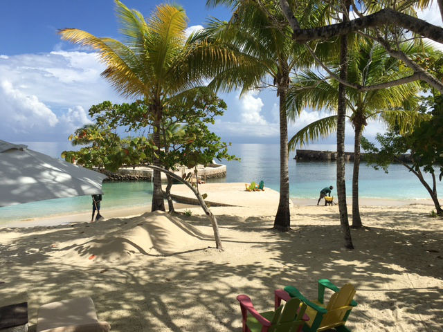 A view from the beach at GoldenEye, Jamaica