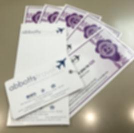 Abbotts Travel Gift Vouchers