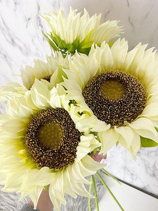Artificial White Sunflower
