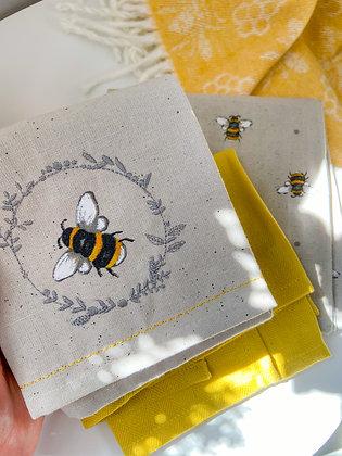 Bee Tea Towels - Set of 3