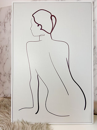 Framed Lady Line Canvas