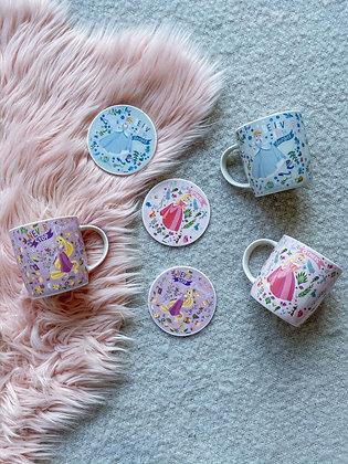 Disney Princess Mug and Coaster Set