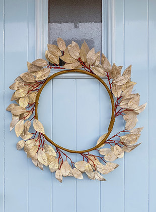 Gold Leaf Wreath - Two Designs