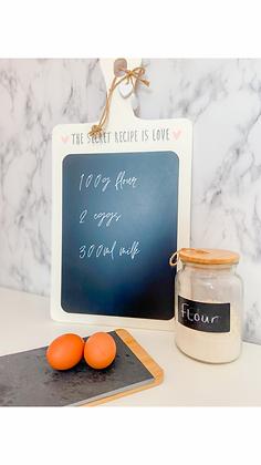 The Secret Recipe Chalkboard