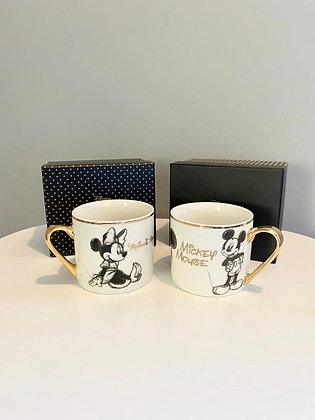 Disney Collectable Mugs - Mickey and Minnie