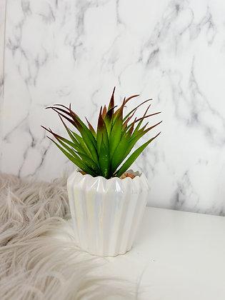 White Pearlescent Planter