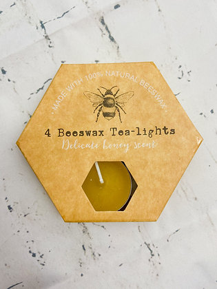 Set of 4 Beeswax Tealights