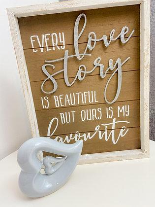 "Rustic ""Love Story"" Plaque"