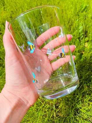 Bumble Bee Glasses - Set of 4