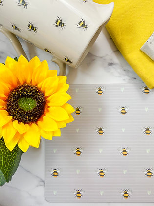 Grey Bee Placemats - Set of 4