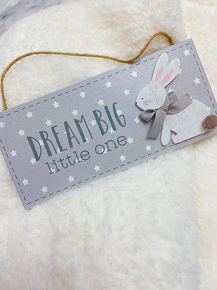 Dream Big Plaque