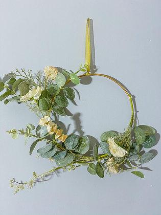 Flower Half Wreath