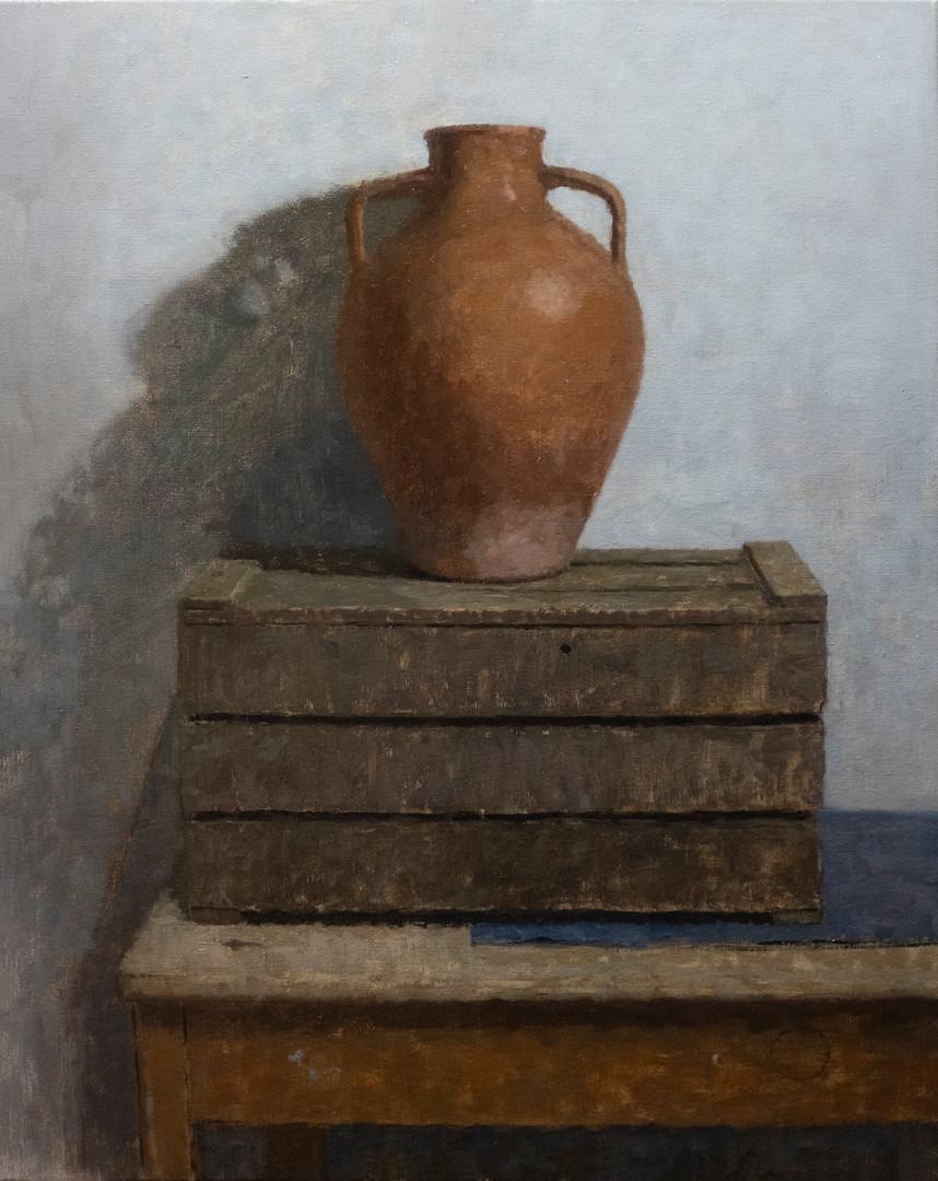 Composition with Spanish water vase