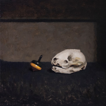 Skull and Spinning Top