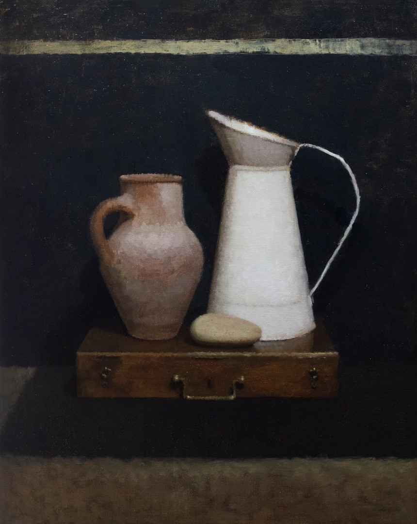 White Jug and Earthenware