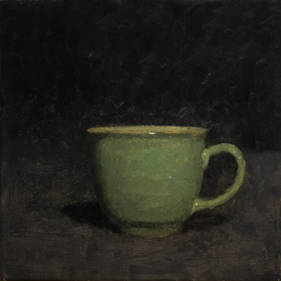 Study of a Green Teacup
