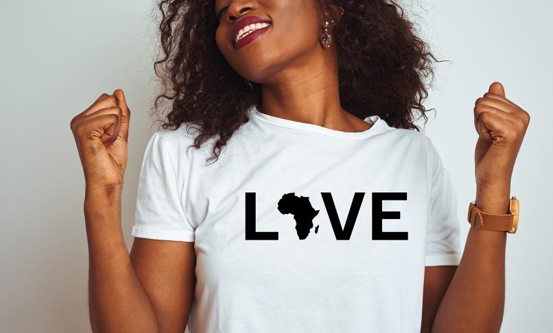 """""""Love"""" Africa Pride Tee"""