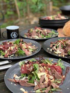 carpaccio wild diner wildbraad wildbuffet slager vlees