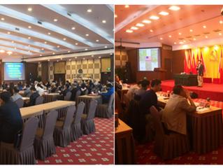 协会副会长葛滨教授中国农业银行总行高端讲座USCEC Exec VP delivered a lecture on globalization trends and leadership to hig