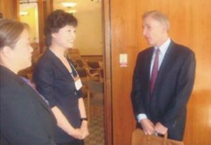 中国作家协会主席铁凝女士访问斯坦福大学Mr. TIE Ning, Chair of Chinese Writers Association Visited Stanford University