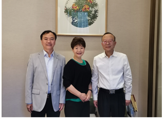 Leaders of the Hunan Overseas Chinese Affairs Office Meets with USCEC Vice Chairwoman 湖南省侨办领导会见美国美中交