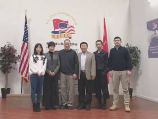 """Mr. Steven Owyang and """"Friends of  Roots"""" 美国加州法官欧阳如展先生拜访USCEC并介绍""""寻根之友""""项目"""