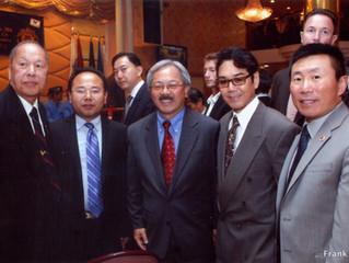 USCEC Board Member with Edwin Lee, the Former Mayor of City of San Francisco 美国美中交流协会理事与前旧金山市长李孟贤