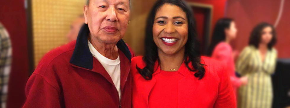 San Francisco Newly Elected Mayor London Breed Thanks Mr. Stephen Lau, USCEC's Vice Chairman, for his Support and Assistance