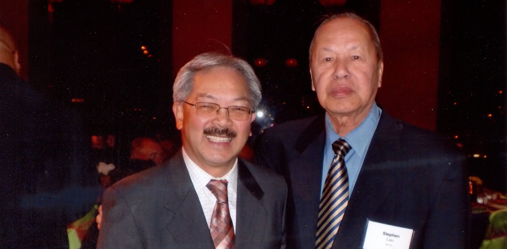 Mr. Stephen Lau, Board Member of USCEC, is Long-time Friend and one of his Campaign Staff of Mayor Edwin Lee, the former Mayor of City of San Francisco