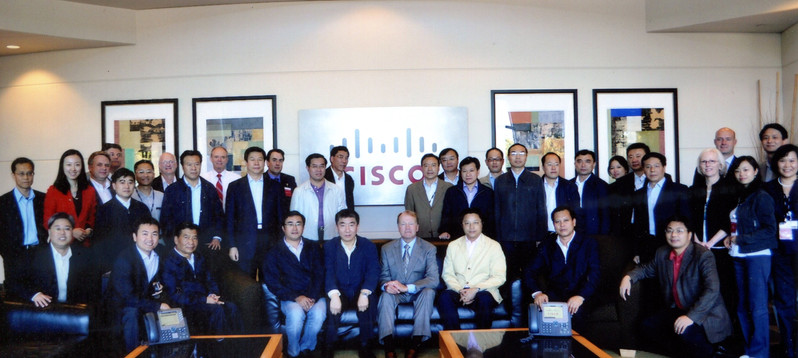 Mr. John Chambers, former CEO of  Cisco met with Chinese delegation hosted by USCEC