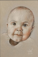 pastel portrait. bay portrait. child portrait commission. pastel painting.