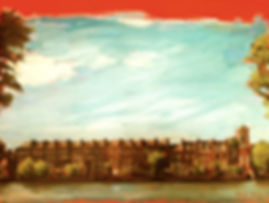 London cityscape painting Oil on Canvas, Thames Painting, Landscape urban
