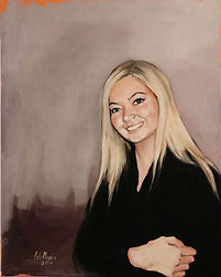 portrait painting woman. portrait commission. figurative ainting