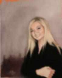 portrait painting woman. portrait commission. figurative ainting