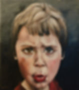 Child Portait. OIl portrat child. Inge du Plessis