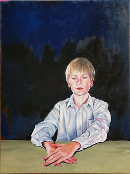 painting, portrait, child portrait, fine art, portrait commission, art, painting, painting clothing, dramatic composition