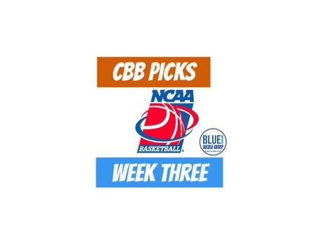 CBB Picks Week 3