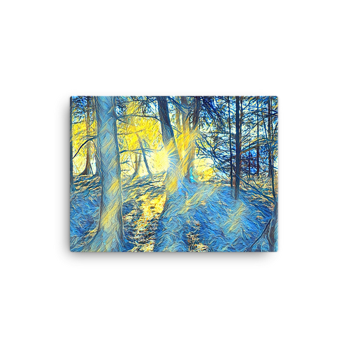 Painted woods Canvas
