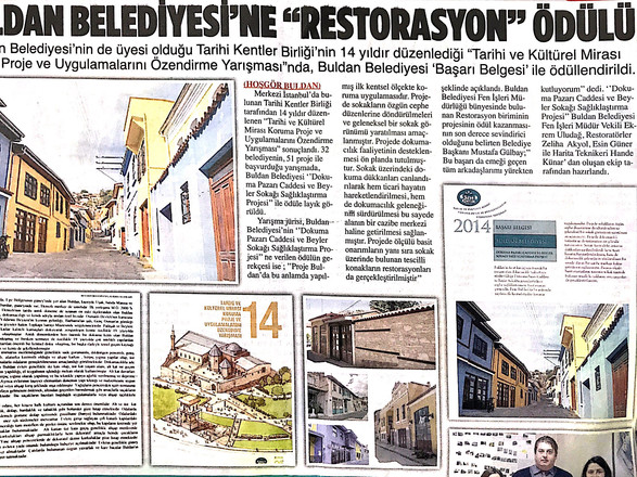 Buldan Belediyesi'ne ''Restorasyon'' Ödülü