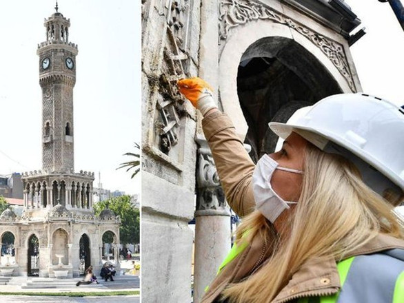 İzmir'de tarihi Saat Kulesi'nde restorasyon!