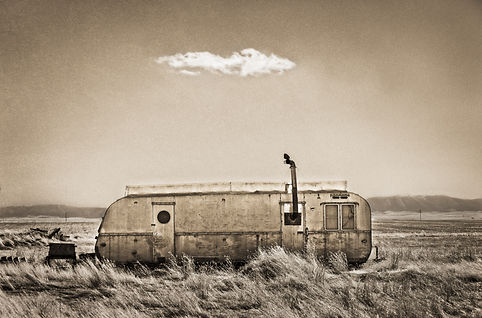 Abandoned Vintage Trailer in Montana photography by Scott Wheeler