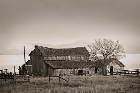 Rustic Barn in Montana black and white photography by Scott Wheeler