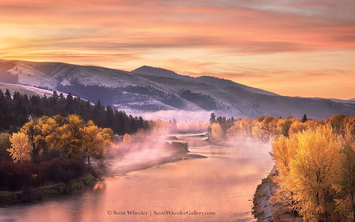 Bitterroot river montana landscape photography by scott wheeler