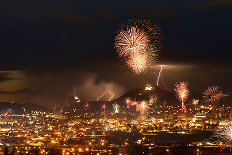 Butte, Montana, Fireworks, Independene Day, Fourth of July, Lightning