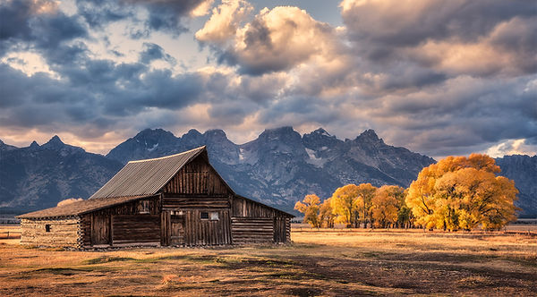 Barn at grand teton national park fall color by scott wheeler photography