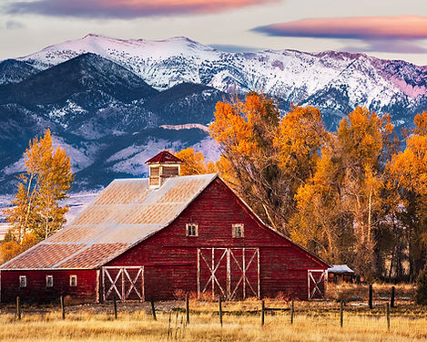Autumn Barn in Montana landscape photography by Scott Wheeler