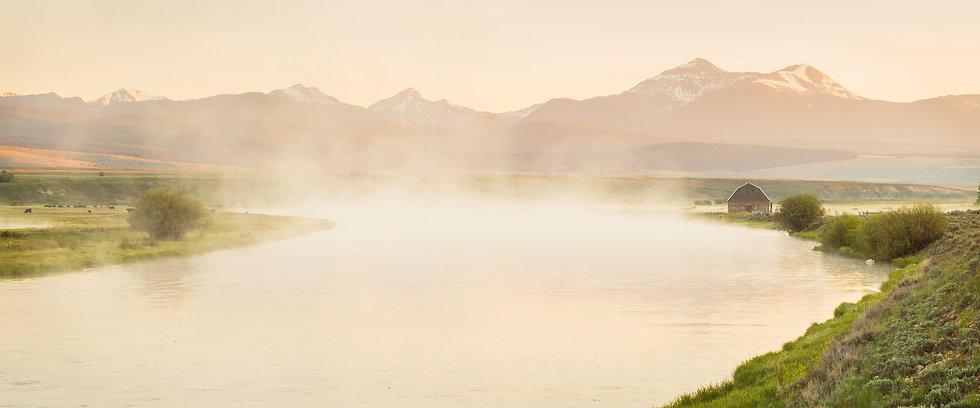 Scott Wheeler Montana Photography Barn Big Hole River Mist