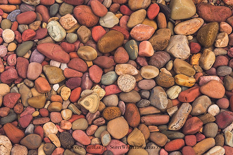 lake mcdonald stones by Scott Wheeler Nature Photography