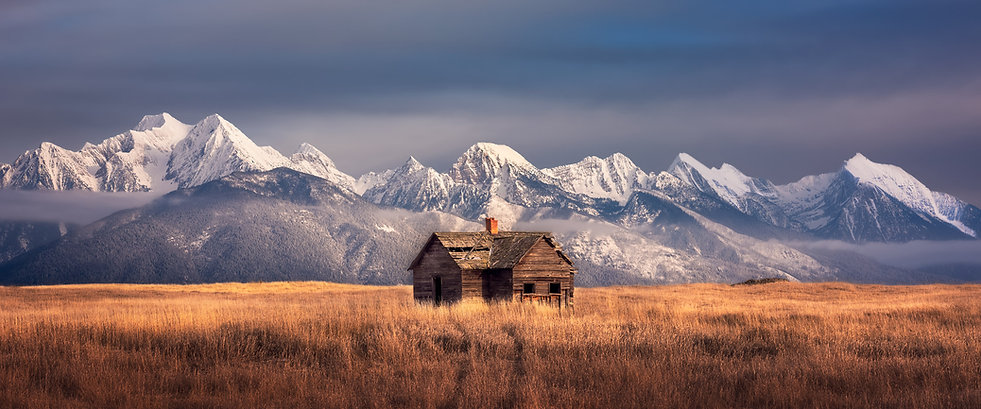 Montana homestead landscape photography by Scott Wheeler
